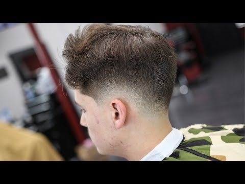 HAIRCUT TUTORIAL: LOW FADE STRIAGHT HAIR BLOW DRY & STYLE