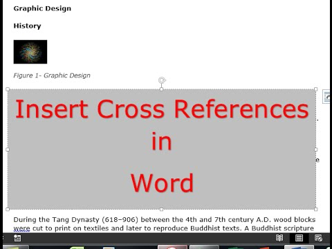 How to use and insert cross references in Word documents  Three commonly used techniques
