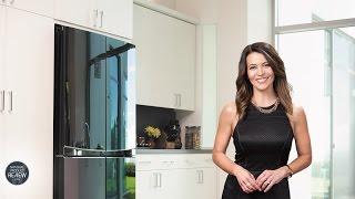Sofie explores the LG, GF6D725BGL, Dual Door In Door Refrigerator