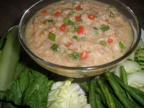 Cambodian Food: Tuna Fish Vegetable Dip (Teuk Kreung)
