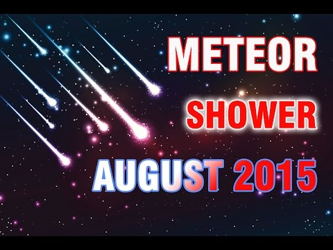 meteor shower Perseid on august the 13