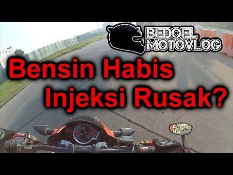 #40 Bensin habis bikin injeksi rusak? | Bersin di dalem helm | #MotoVlog Indonesia