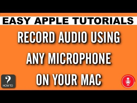 How To Record Audio Using Any Microphone on Your Mac Using Quicktime | Easy Apple Tutorials
