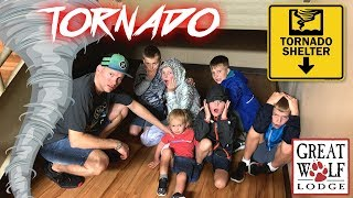 Download Hiding From REAL Tornado at Great Wolf Lodge!! Video