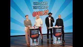 Download Scarlett Johansson & Brie Larson Play 'Who Saves the World? Girls!' Video