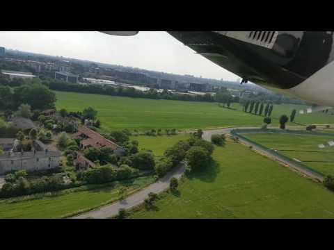 Bumpy approach and landing at Milan linate airport!