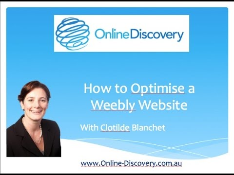 How to add page title and description to a weebly website