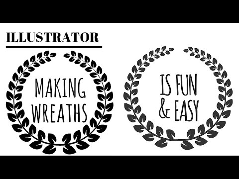 Draw Wreaths in Illustrator Two Ways - Paired and Alternating Leaves