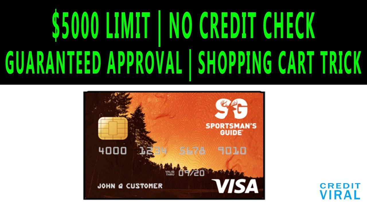 $5000 Credit Limit! No Credit Check Credit Card! Guaranteed Approval ! Shopping Cart Trick