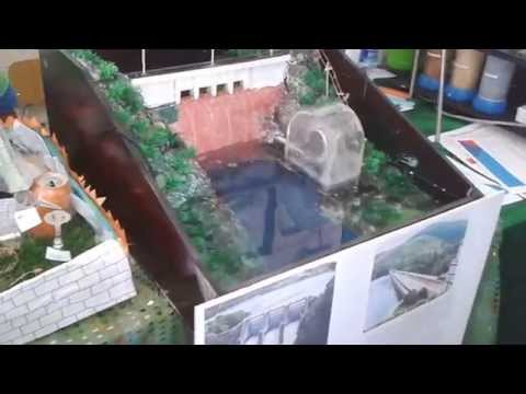 Hydroelectric power plant working model