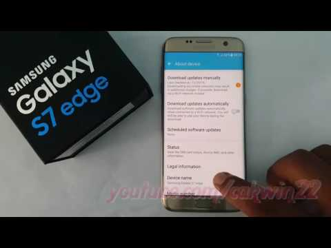 Samsung Galaxy S7 Edge : How to change Device Name for WiFi and Bluetooth (Android Marshmallow)