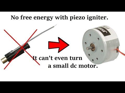 No Free Energy With Piezo Igniter