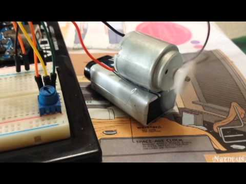 Controlling Motor speed with Arduino Uno and a potentiometer