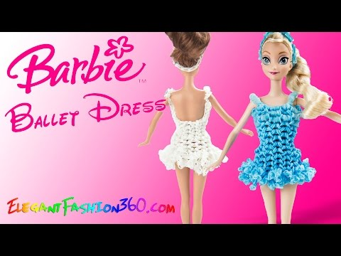 Rainbow Loom Ballet Dress Elsa/Barbie Wearable - How to Loom Bands