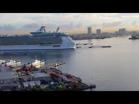 Carnival Conquest - Arriving in San Juan Puerto Rico - 11/30/17 - Post Maria