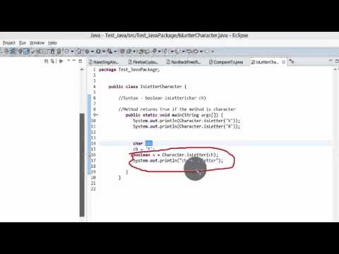 Java Tutorial - isLetter() method to find if the character is a letter