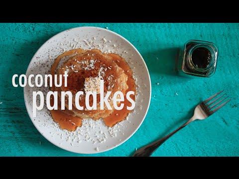 VEGAN GLUTEN-FREE COCONUT PANCAKES | hot for food