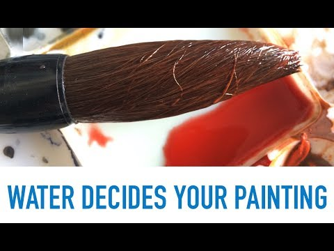 WATER DECIDES YOUR PAINTING