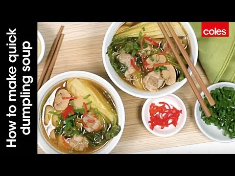 This is how to make quick dumpling soup