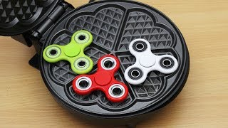 Download EXPERIMENT WAFFLE IRON vs FIDGET SPINNER TOY Video