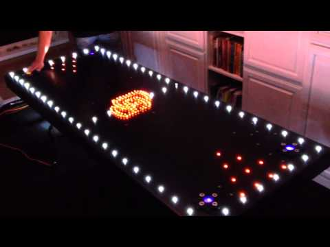 Oregon State Aluminum, Auto wash LED lit beer pong table!