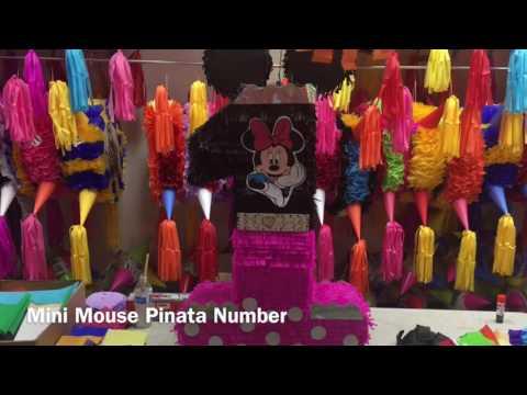 Mini Mouse Pinata Number 1 Birthday pinata