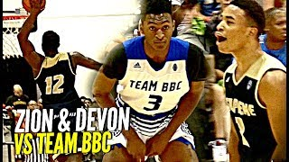 Zion Williamson & Devon Dotson DOMINATE vs Team BBC!! Zion Shuts Gym Down w/ NASTY Dunk!