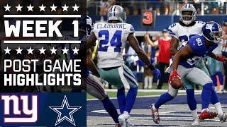 Giants vs. Cowboys | NFL Week 1 Game Highlights