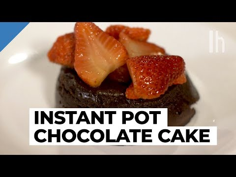 How to Make an Instant Pot Chocolate Lava Cake | Cheap Dinner Party