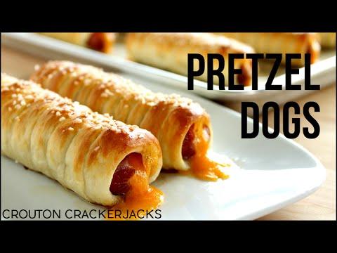 Pretzel Dogs!! Homemade Soft Pretzel Dog Recipe