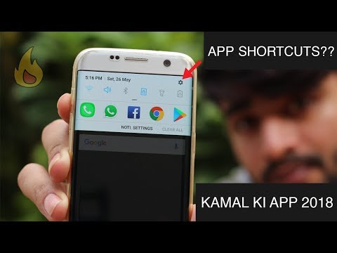 How to add App shortcuts to Notification bar    Android