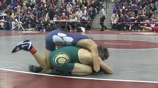 Hunter Gutierrez of Lacey wins by fall at 113 pounds in Region 7 quarters
