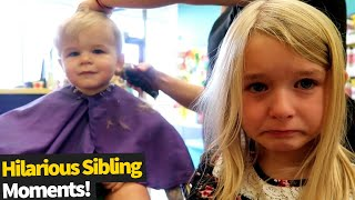 Funniest Sibling Moments | Funny Babies And Pets