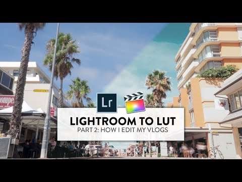 HOW TO COLOUR GRADE YOUR VLOGS (PART 2: LIGHTROOM TO LUT)