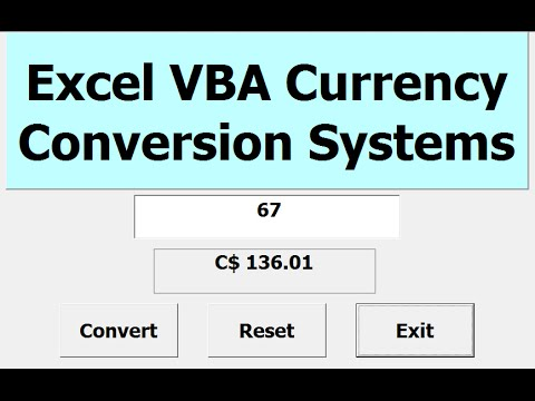 How to Create Currency Converter using Excel VBA