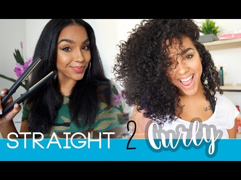 STRAIGHT BACK TO CURLY with HAIR STEAMER DEEP CONDITION!