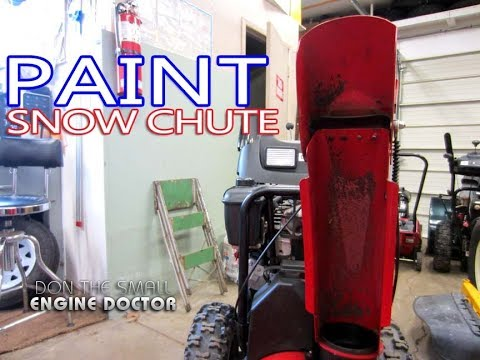 Snowblower Quick Tip #7 - Painting The Chute For Better Performance