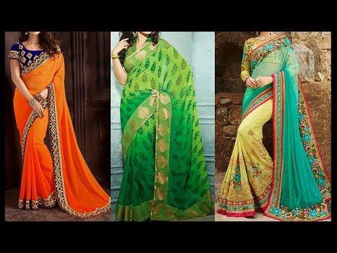 Latest Light Weight Fancy Saree Designs - She Fashion