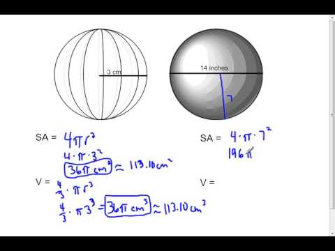 Spheres - Surface Area and Volume (7.6)