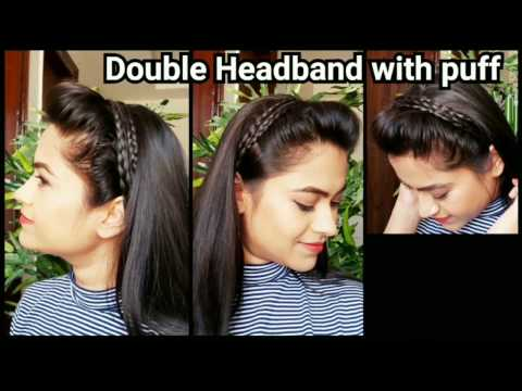 HEADBAND with PUFF//Everyday quick easy hairstyles for school for medium to long hair