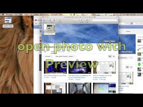 How to take a ScreenShot in Mac OS X