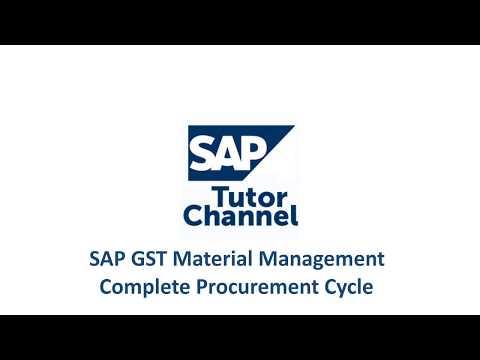 SAP GST Material Management - Complete Procurement Cycle