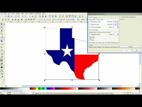 Convert a Color Image to EPS in Inkscape