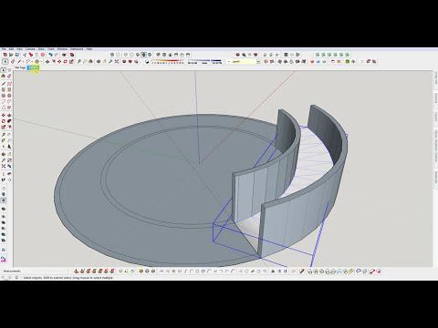 SketchUp : Build a Semi Circular Ramp
