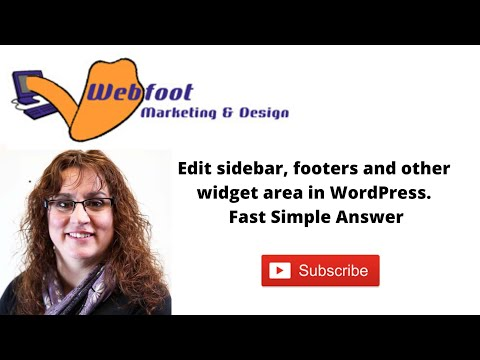 Edit sidebar and widget area in wordpress
