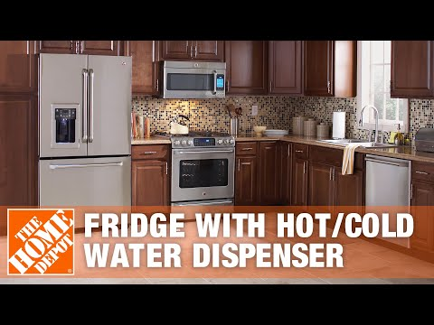 GE Cafe Refrigerator with Hot/Cold Water Dispenser
