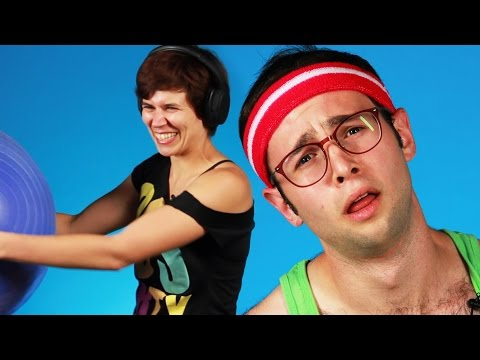 People Try '80s Workout Video Moves