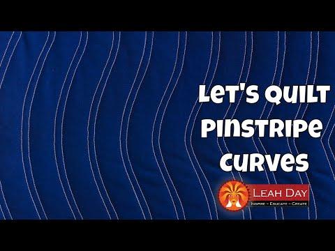 How to Quilt Pinstripe Curves, Beginner Machine Quilting Tutorial