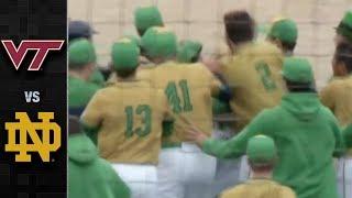 Virginia Tech vs. Notre Dame Baseball Highlights (2018)