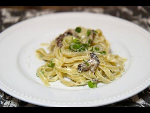 Creamy Mushroom Fettuccine Alfredo - Cooked by Julie episode 250